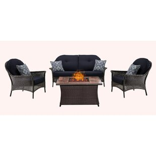 Kinnison 4 Piece Sofa Set with Cushions