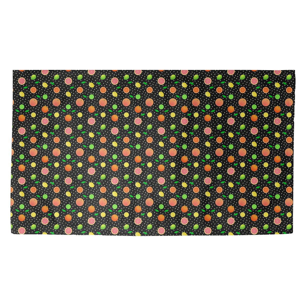 Latitude Run Avicia Citrus Fruit Non Slip Indoor Door Mat Wayfair