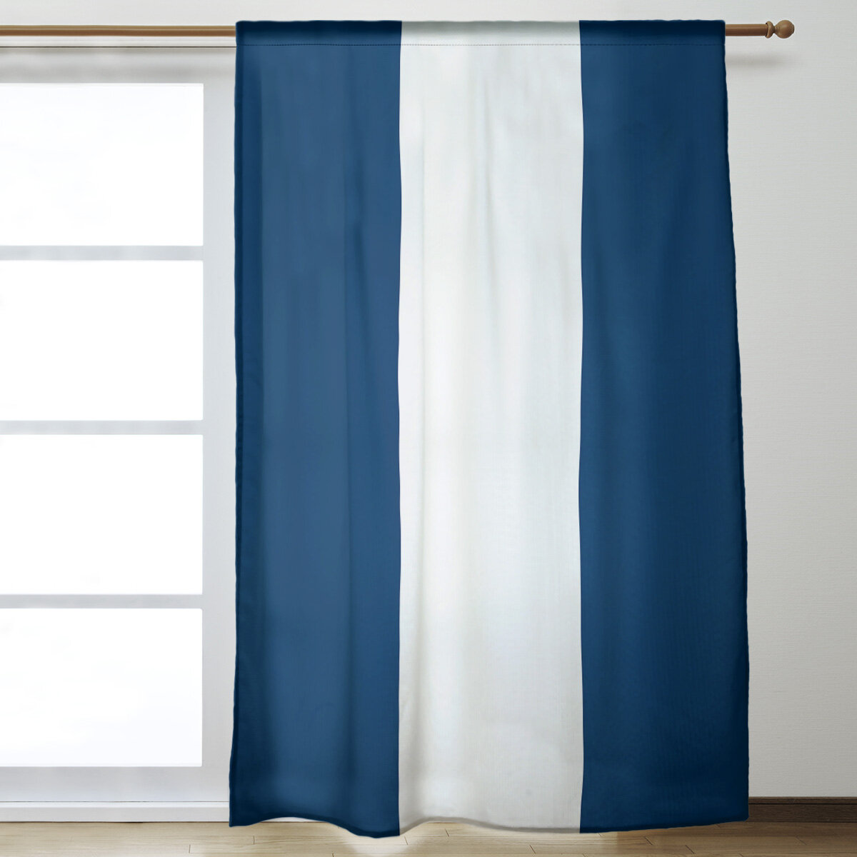 East Urban Home California Stripes Room Darkening Rod Pocket Single Curtain Panel Wayfair