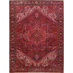 One-of-a-Kind Crawfordville Heriz Persian Hand-Knotted 10' 4'' x 13' 2'' Wool Red/Burgundy Area Rug ByIsabelline