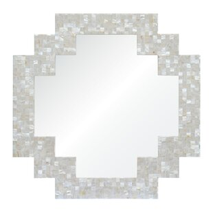 Mirror Image Home Bunny Williams Mother of Pearl Accent Mirror