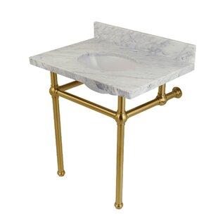 Templeton Marble Rectangular Undermount Bathroom Sink with Overflow ByKingston Brass