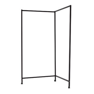 Douglass L-Shaped 2 Panel Room Divider by Symple Stuff