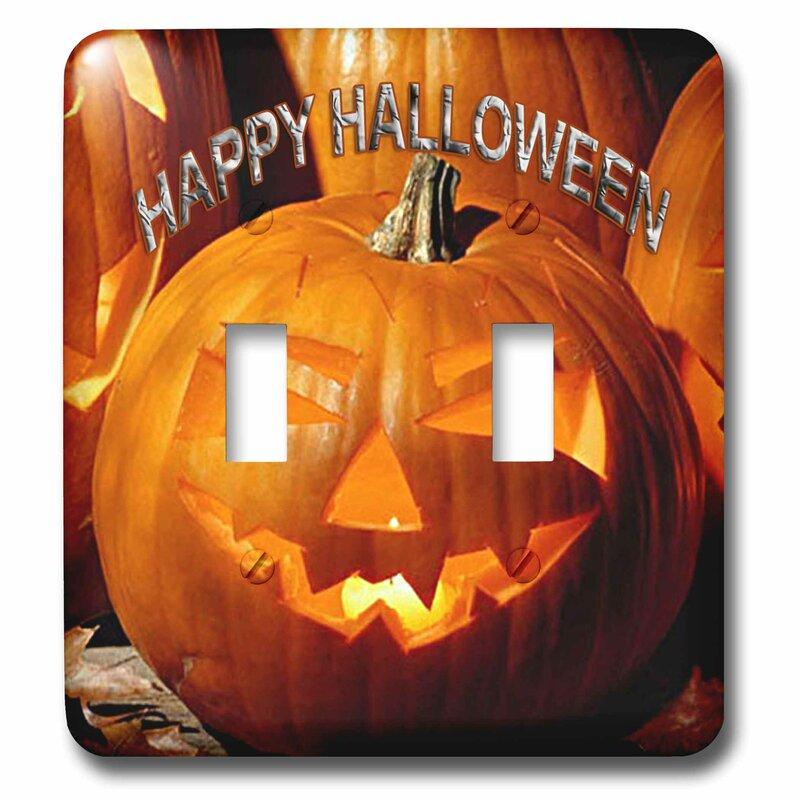 3drose Happy Halloween 2 Gang Toggle Light Switch Wall Plate Wayfair
