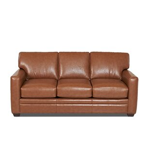 Wayfair Custom Upholstery™ Carleton Leather Sofa