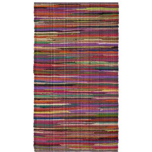 Shatzer Hand-Woven Red Area Rug