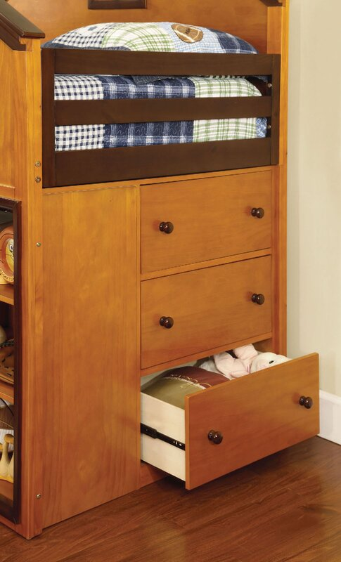 A J Homes Studio Rachel Twin Over Twin L Shaped Bunk Beds With