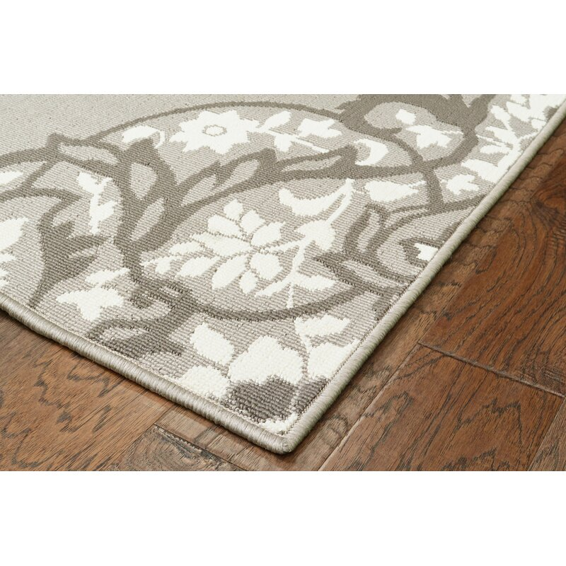 Charlton Home Sattler Gray White Indoor Outdoor Area Rug Reviews Wayfair