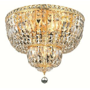 House of Hampton Fulham 10-Light Flush Mount