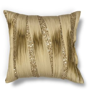 Hinrichs Ruffles and Sequins Throw Pillow