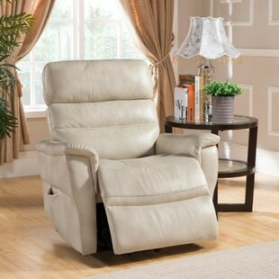 Calidia Leather Power Recliner by Latitude Run