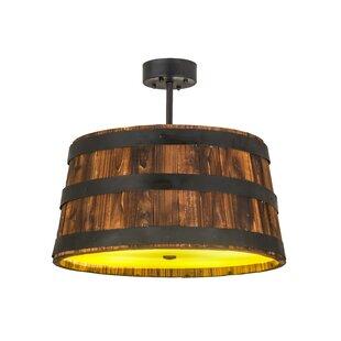 Meyda Tiffany Greenbriar Oak 4-Light Pendant