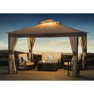Sunjoy Belcourt 12 Ft. W x 10 Ft. D Steel Patio Gazebo