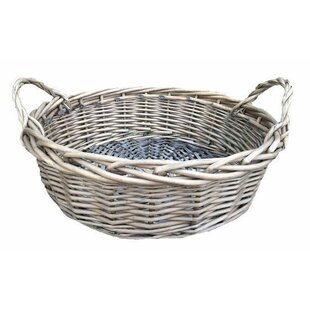Large Round Display Wicker Basket By Brambly Cottage