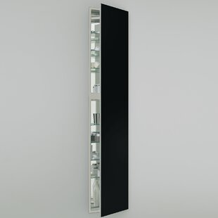 Savings M Series 15 x 70 Recessed Frameless Medicine Cabinet with 3 Adjustable Shelves and Lighting By Robern