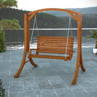 Poar Wood Porch Swing by Loon Peak