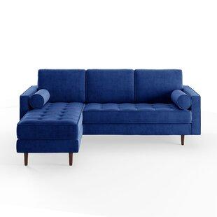 Modern & Contemporary Navy Blue Sectional Sofa | AllModern
