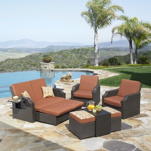 Wu 4 Piece Sunbrella Sofa Set with Cushions