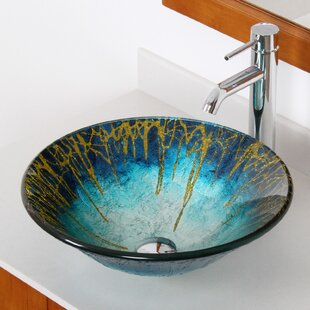 Elite Enchantment Glass Circular Vessel Bathroom Sink