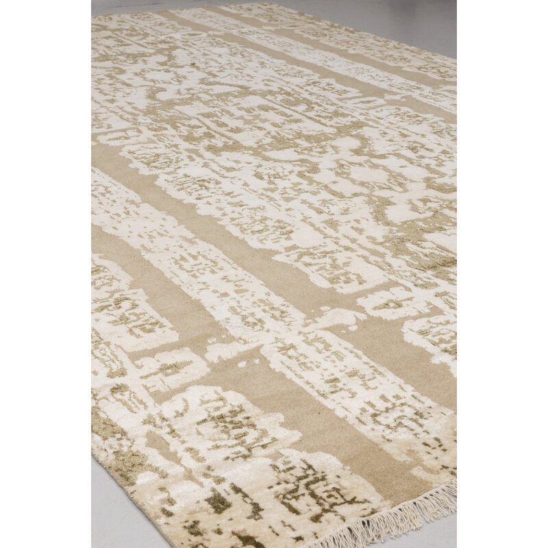 Solo Rugs Grit And Ground Abstract Hand Knotted Wool Beige Area Rug Perigold