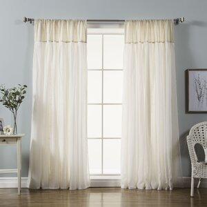 Vidalia Solid Semi-Sheer Rod Pocket Curtain Panels (Set of 2)