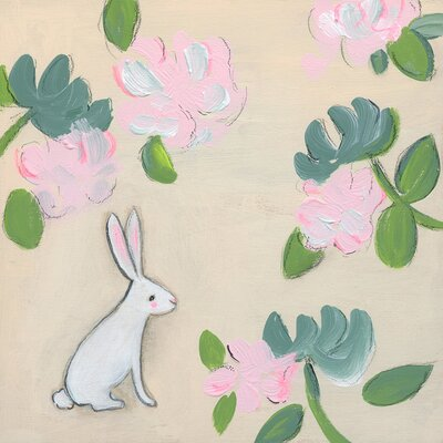 Bunny Floral By Creative Thursday Marisa Canvas Art