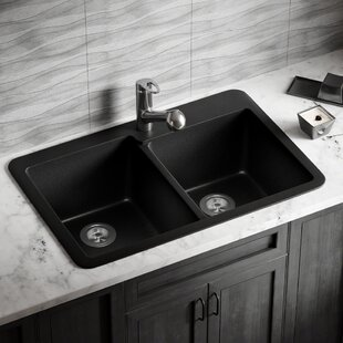 Eviers De Cuisine En Granite Finition Noir Wayfair Ca