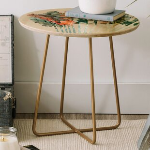 Iveta Abolina Palm Dessert Sunrise Round End Table