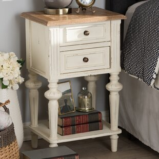 Ophelia & Co. Westrick French Provincial 2 Drawer Nightstand