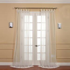 Emie Solid Sheer Rod pocket Curtain Panels (Set of 2)