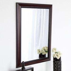 Dalat Cherry Framed Vanity Beveled Wall Mirror
