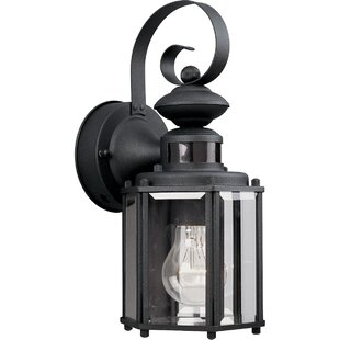 Great Price Shantel Motion Sensor 1-Light Outdoor Wall Lantern By Red Barrel Studio