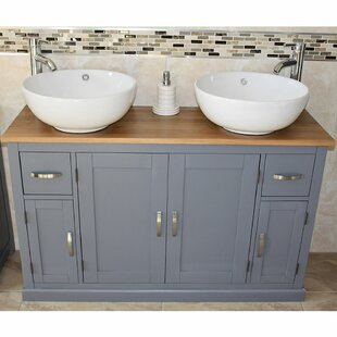 Solid Beech Bowdin 1230mm Free-standing Double Vanity By August Grove