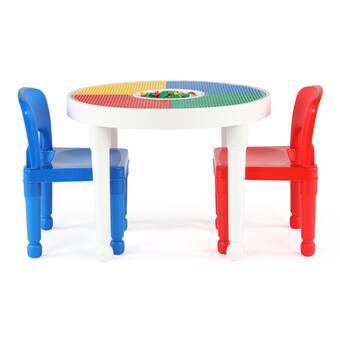 Cool Zoomie Kids Kopec Kids 3 Piece Writing Table And Chair Set Interior Design Ideas Gresisoteloinfo