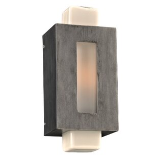 Check Prices Schumann 1-Light Outdoor Flush Mount By World Menagerie