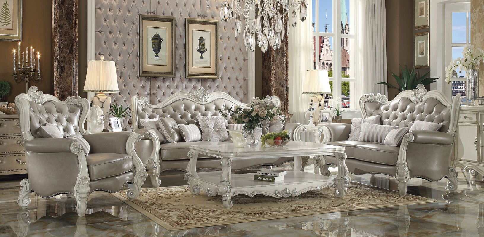 Acme Furniture Versailles Configurable Living Room Set Reviews Wayfair
