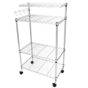 Eldert 4 Tier Storage Rack Microwave Cart by Rebrilliant