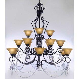 Bowl chandelier wayfair alvan 15 light bowl shaded chandelier mozeypictures Gallery