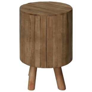 Scruggs Wooden Round Drum End Table