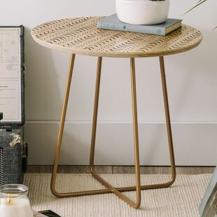 Iveta Abolina Mud Cloth Inspo VIII Round End Table by East Urban Home