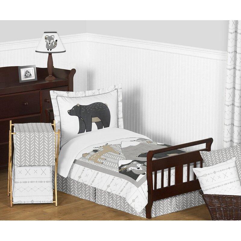 Sweet Jojo Designs Woodland Friends 5 Piece Toddler Bedding Set