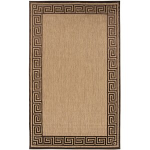Carver Natural/Chocolate Outdoor Rug
