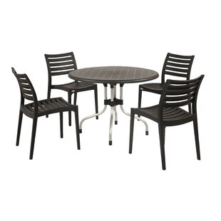 Ebern Designs Kirton Commercial Grade 5 Piece Dining Set