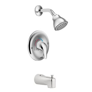 Inexpensive Chateau Tub and Shower Faucet with Lever Handle and Posi-Temp ByMoen