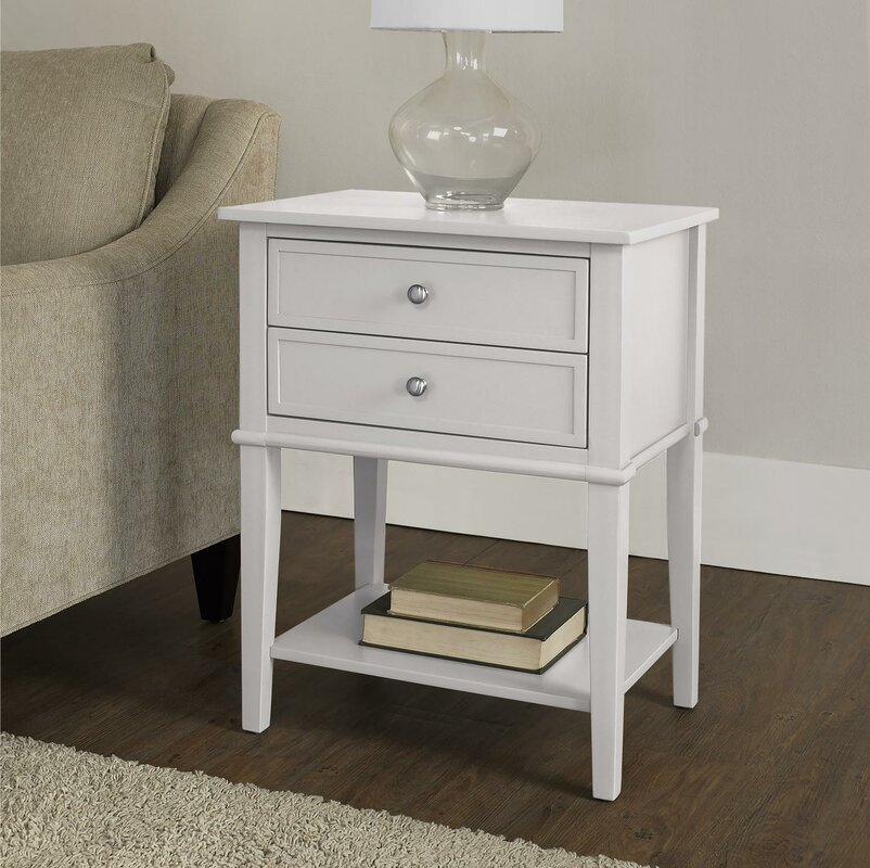 beachcrest home winfield end table with storage reviews wayfair. Black Bedroom Furniture Sets. Home Design Ideas
