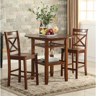 Talbot 3 Piece Counter Height Drop Leaf Dining Table