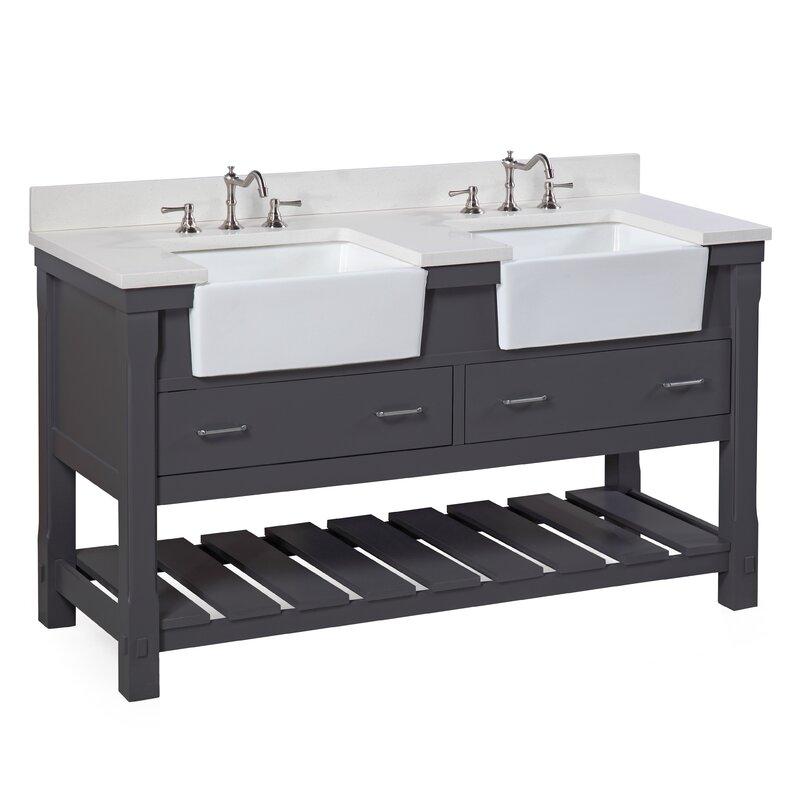 Charlotte 60  Double Bathroom Vanity Set. Farmhouse Bathroom Vanities You ll Love   Wayfair
