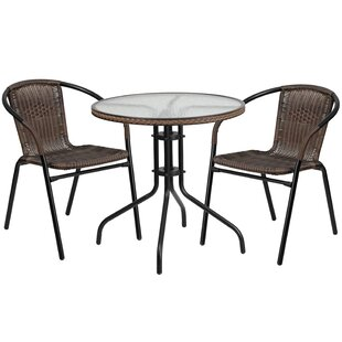 Breakwater Bay Fullerton 3 Piece Bistro Set