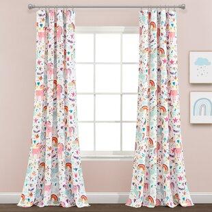 Unicorn Bedroom Curtains Wayfair
