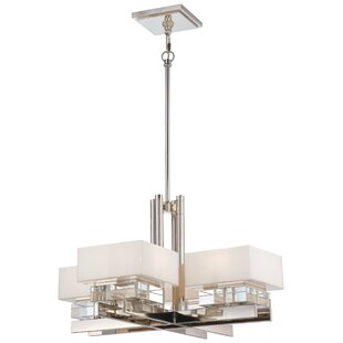 Metropolitan by Minka Eden Roe 8-Light Shaded Chandelier